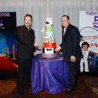 Terry Fator and President and COO of The Mirage Hotel & Casino Trevor Scherrer.